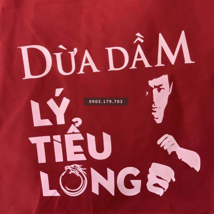 Mẫu in dù Dừa dầm lí tiểu long của Quang Khải