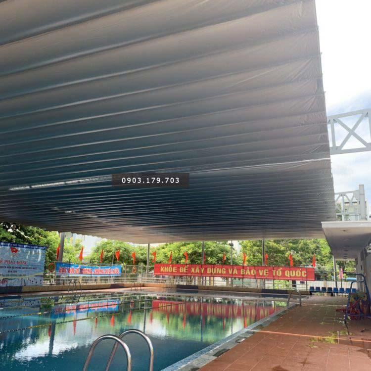 Mái che di động cho hồ bơi của Tấn Hùng Phát