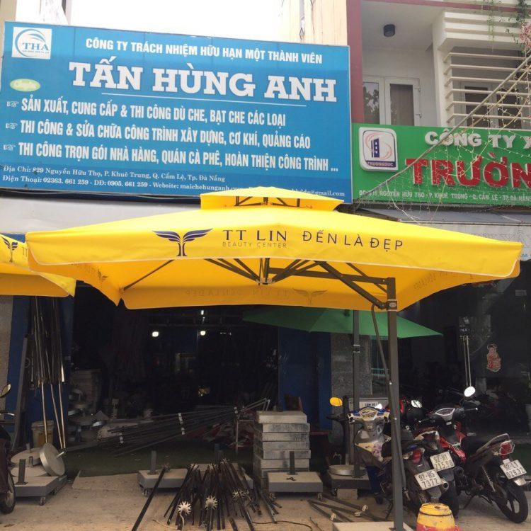 Dù Lệch Tâm Vuông Quán Cafe